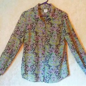 J. Crew button down long sleeve shirt size medium
